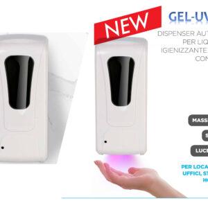 Dispenser Gel per mani con raggi uv