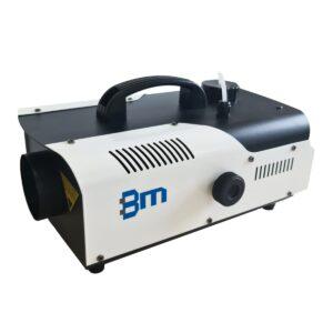 sanificatore portatile a nebbia bianco e nero con logo bm impianti blu